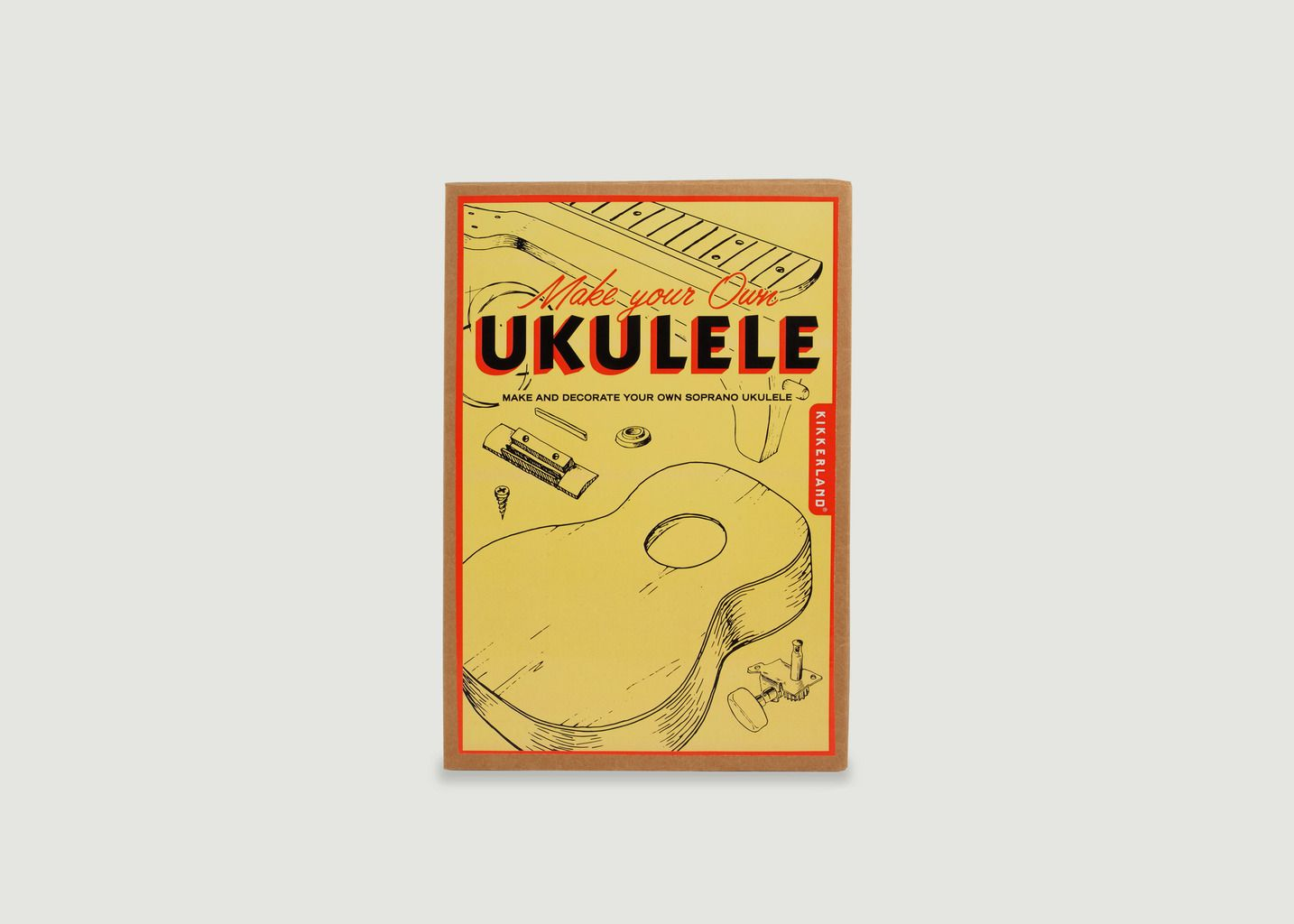 Kit Complet Ukulélé à Assembler Soi-Même - Kikkerland