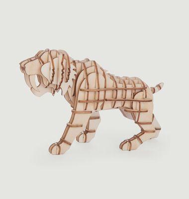 Puzzle 3D en Bois, 'Tigre'