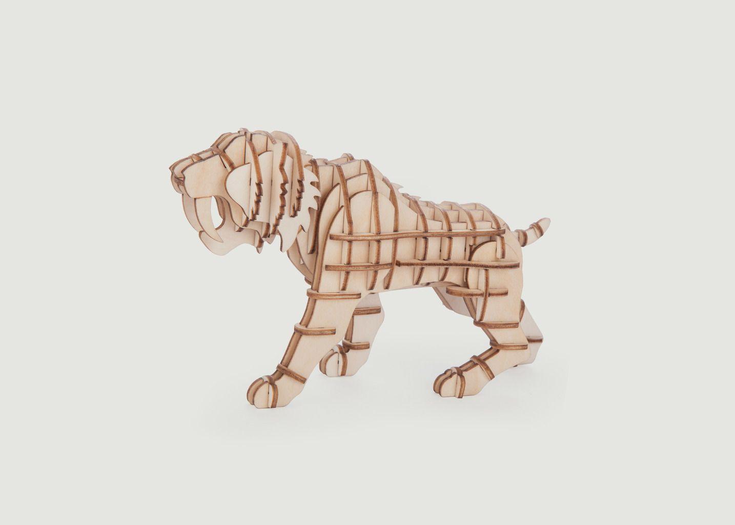Puzzle 3D en Bois, 'Tigre' - Kikkerland
