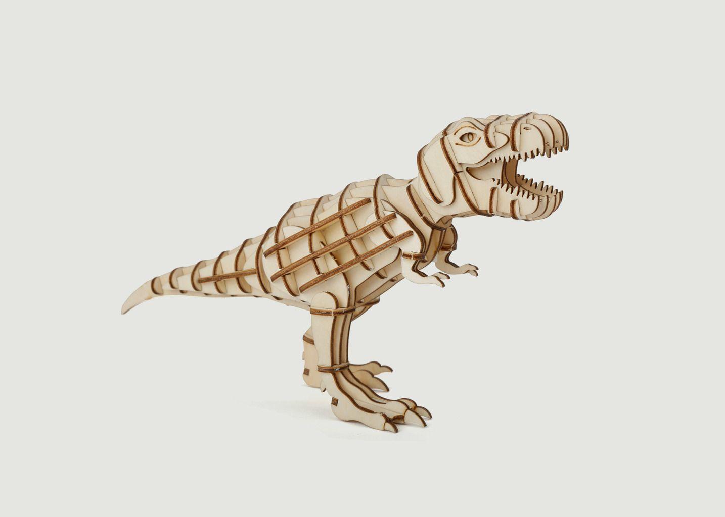 Puzzle 3D en Bois, 'T-Rex' - Kikkerland