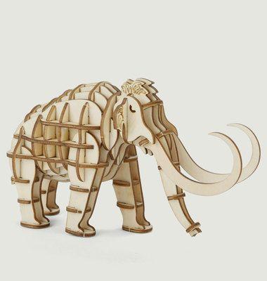 Puzzle 3D En Bois Mammouth