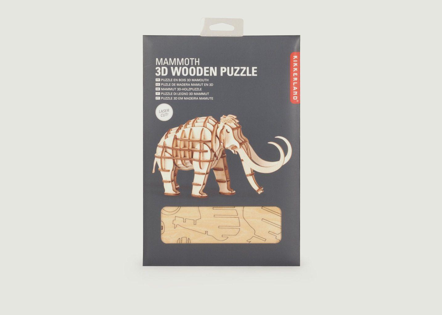Puzzle 3D En Bois Mammouth - Kikkerland