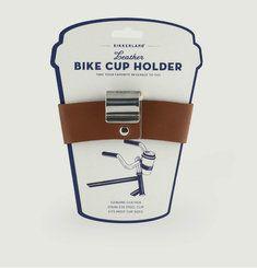 Attache Gobelet Vélo Cuir Et Acier