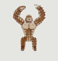 Puzzle Gorilla 3D En Bois