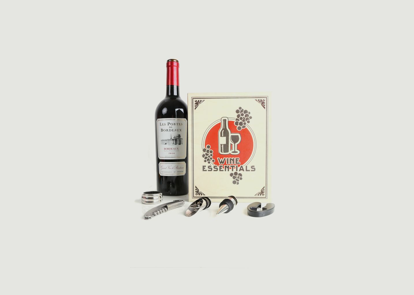 Coffret à Vin Livre  - Kikkerland