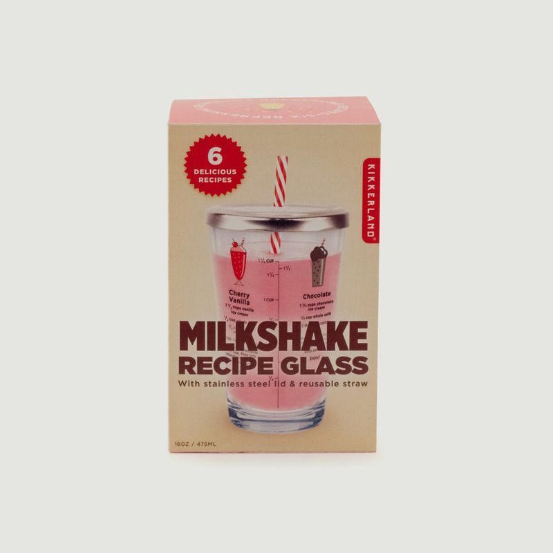 Verre Recettes à Milkshake - Kikkerland