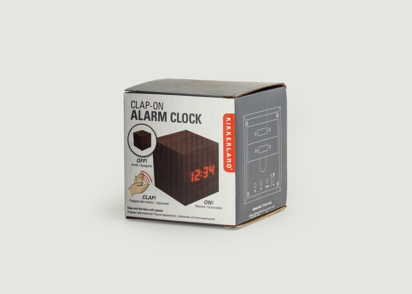 Horloge Réveil LED Bois - Kikkerland