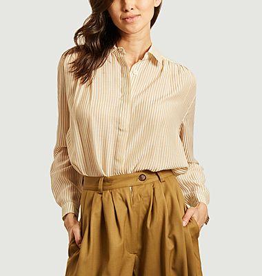 Chemise rayée avec fronces