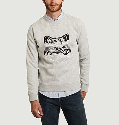 Sweatshirt brodé Big Fox