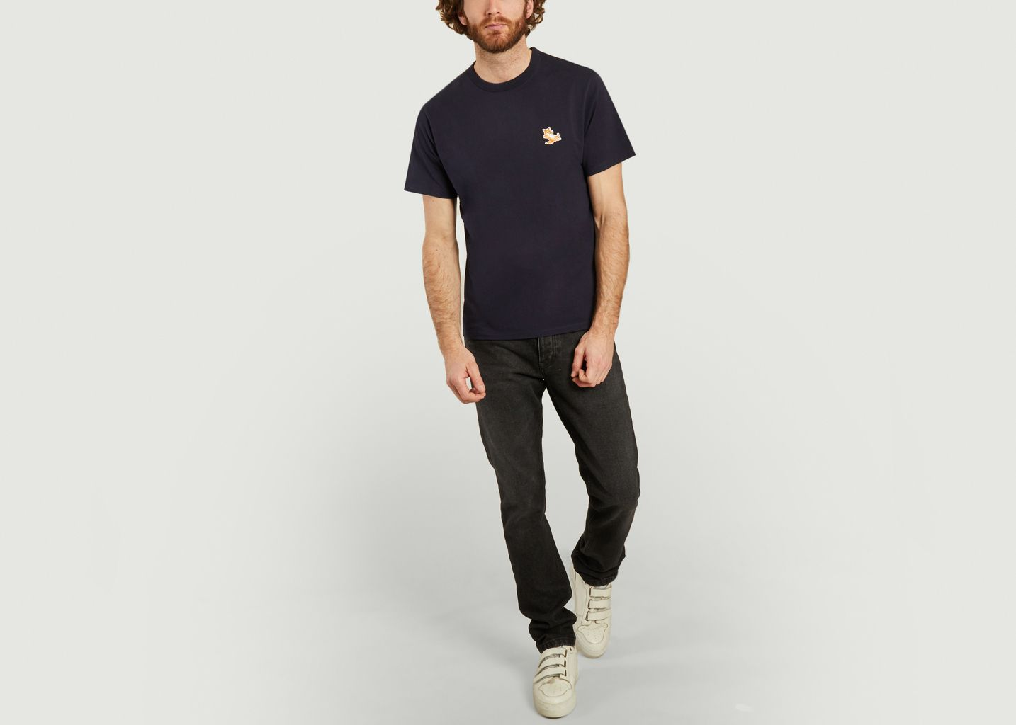Classic Chillax Fox Patch T-Shirt - Maison Kitsuné