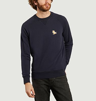 Classic Chillax Fox Head Patch Sweatshirt