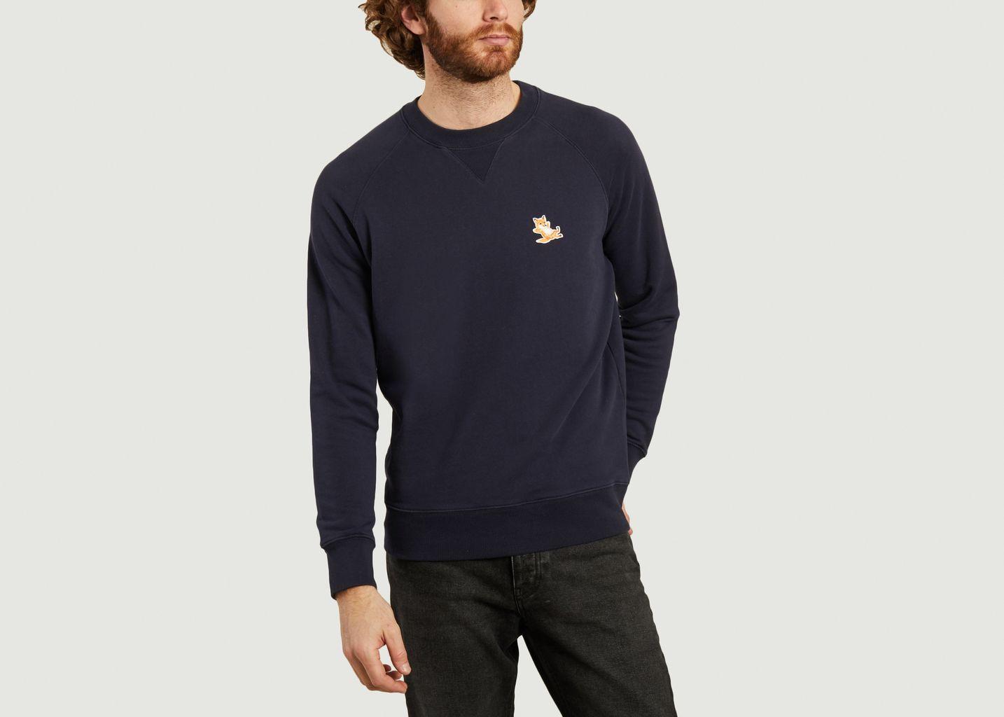 Sweatshirt classique Chillax Fox Head Patch - Maison Kitsuné