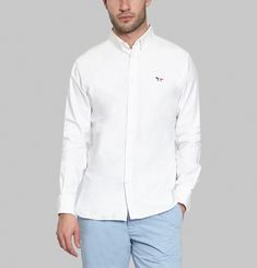 Tricolour Oxford Patch Shirt