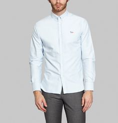 Fox Embroidered Oxford Shirt