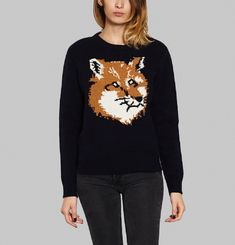 Pull Lambswool Fox Head