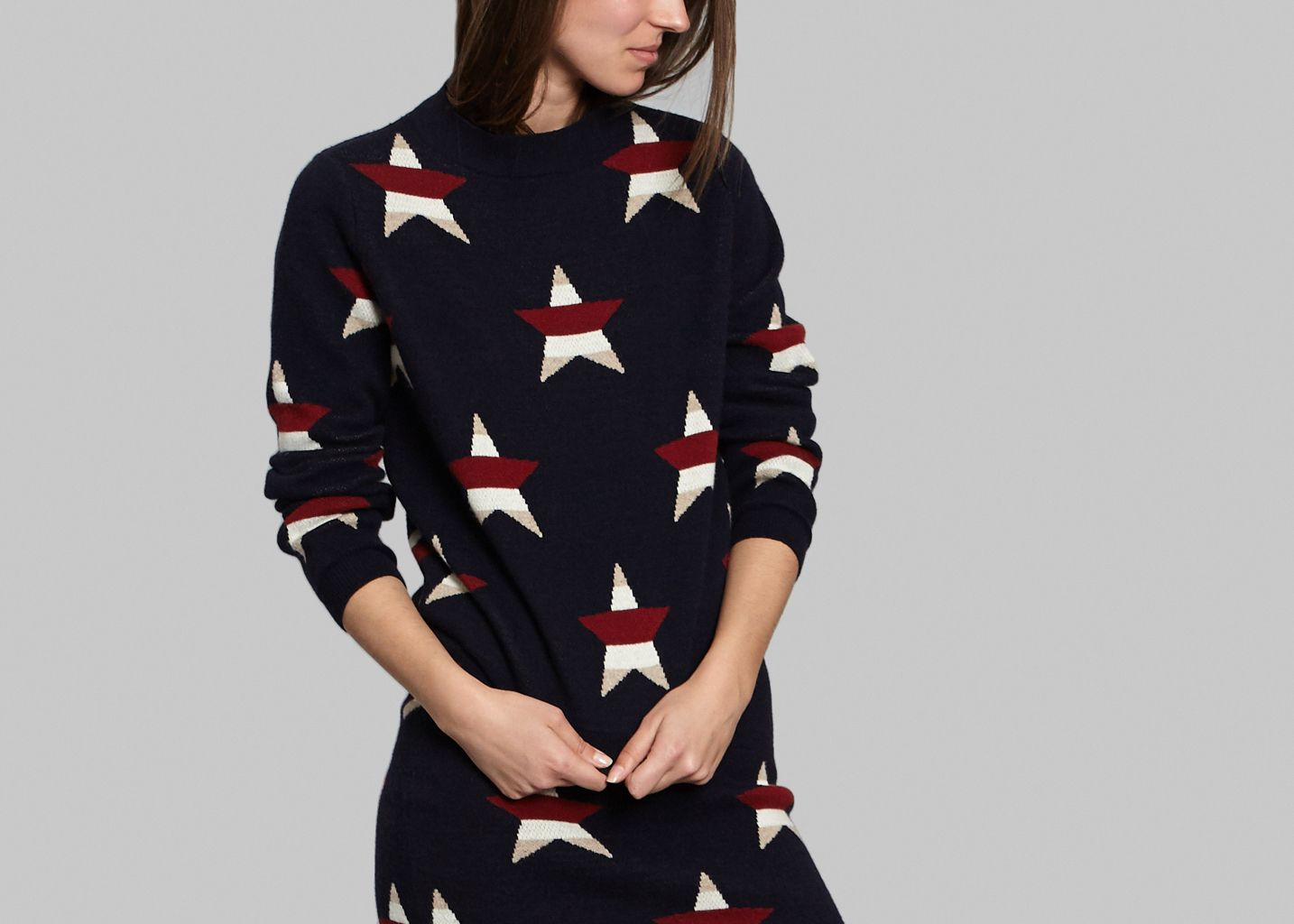 Pullover All Over Stars - Maison Kitsuné