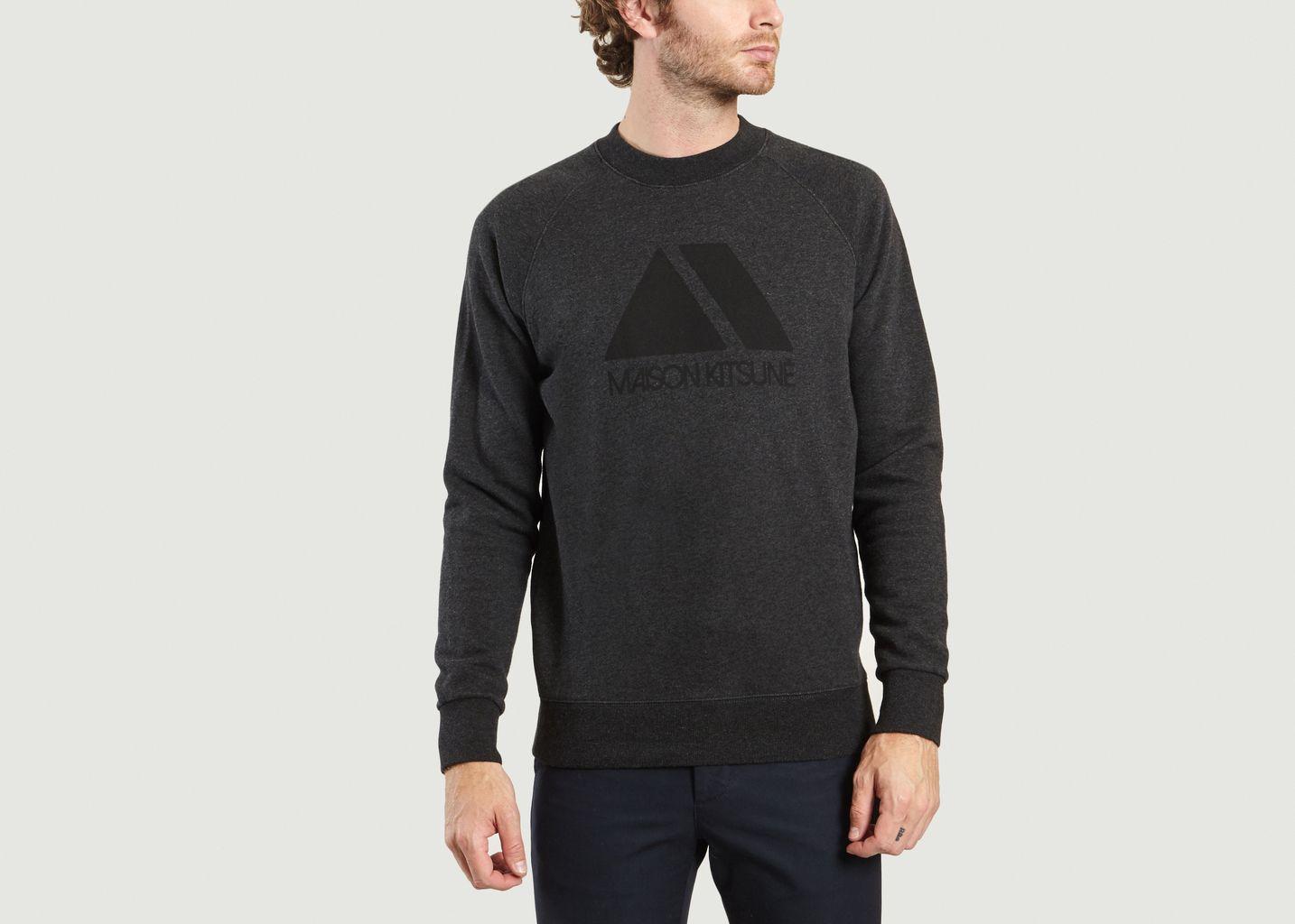 50 Soldes Maison À Kitsuné L Sweatshirt Anthracite Triangle ZqqHf6T7Y