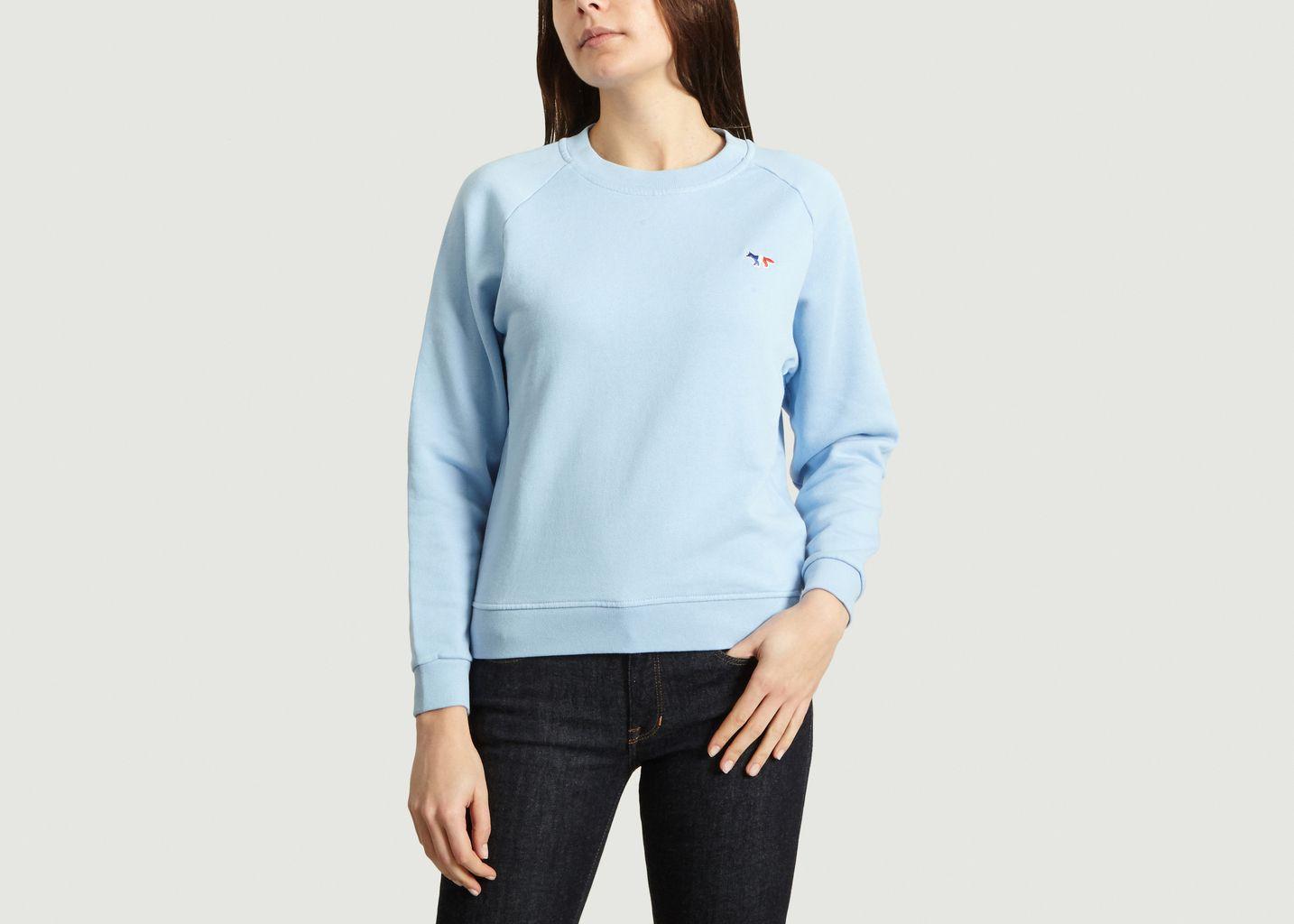 Sweatshirt Tricolor Fox Patch - Maison Kitsuné