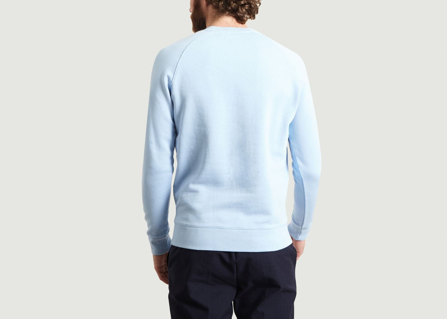 Sweatshirt Tricolor Fox Patch - Maison Kitsuné