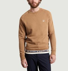 Sweatshirt Fox Head Patch Jacquard