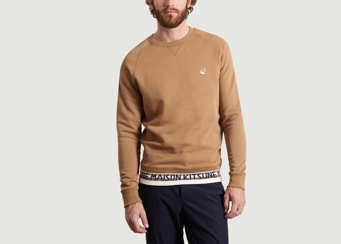 Sweatshirt Fox Head Patch Jacquard - Maison Kitsuné