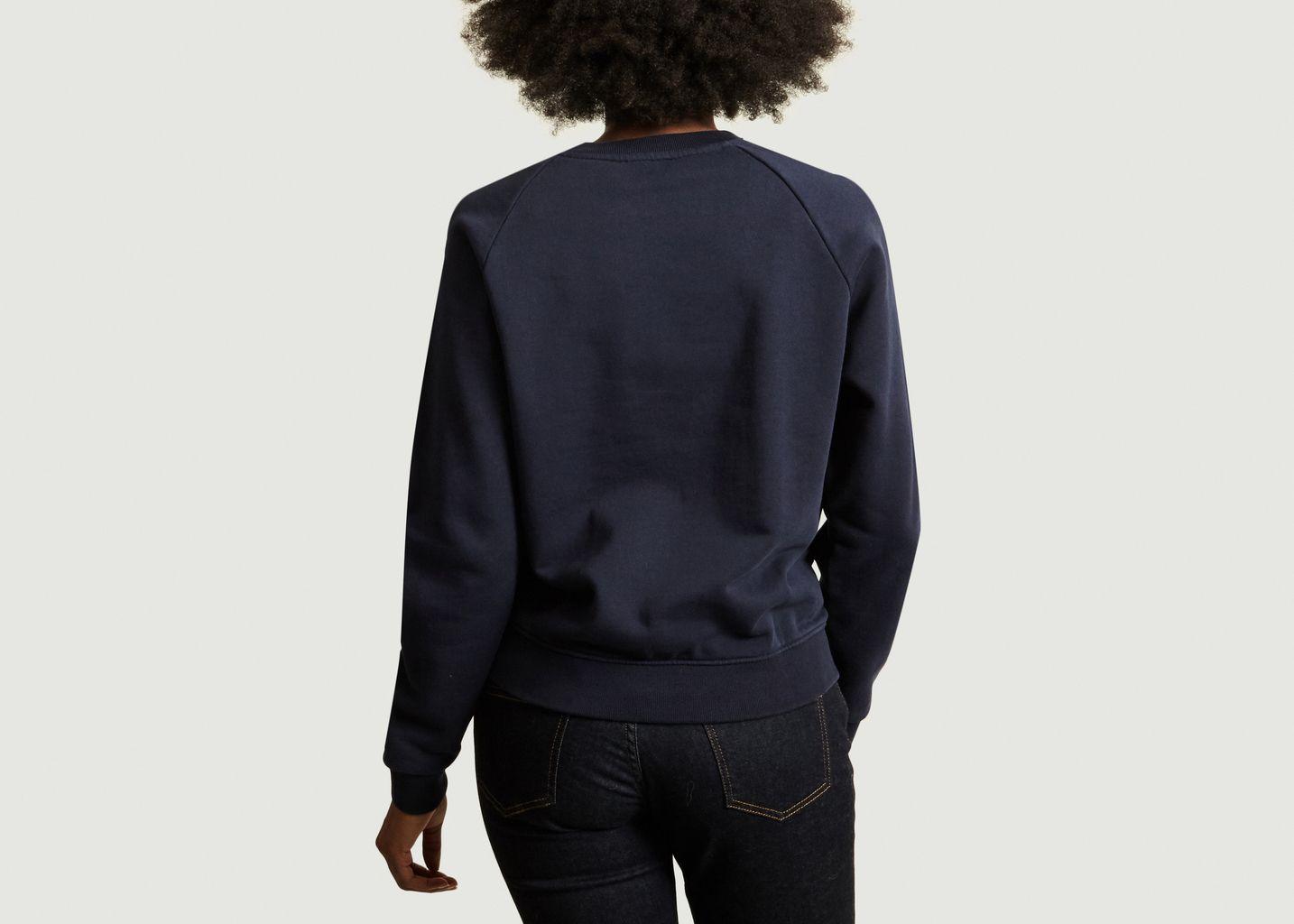 Sweatshirt Siglé Manches Raglan - Maison Kitsuné