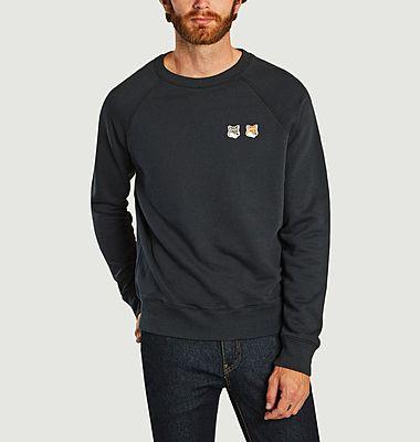 Sweatshirt avec patch double renard