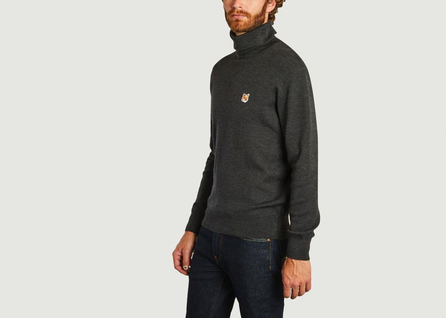 Pullover col roulé logo - Maison Kitsuné