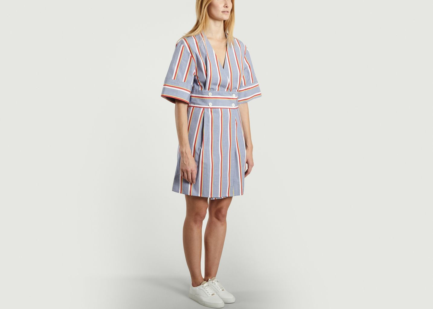 Sally Striped Dress - Maison Kitsuné
