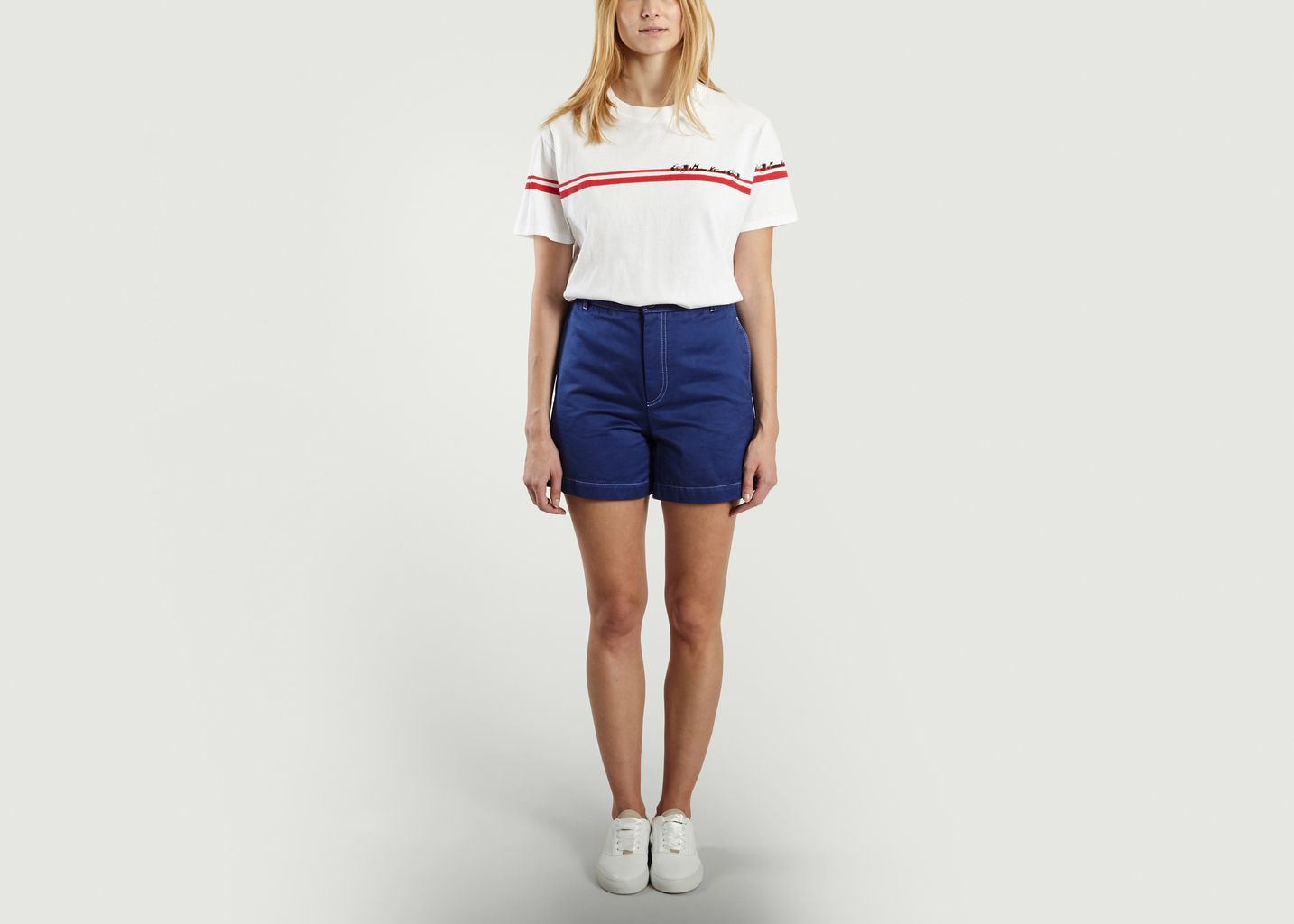 T-Shirt Flower Stripes - Maison Kitsuné