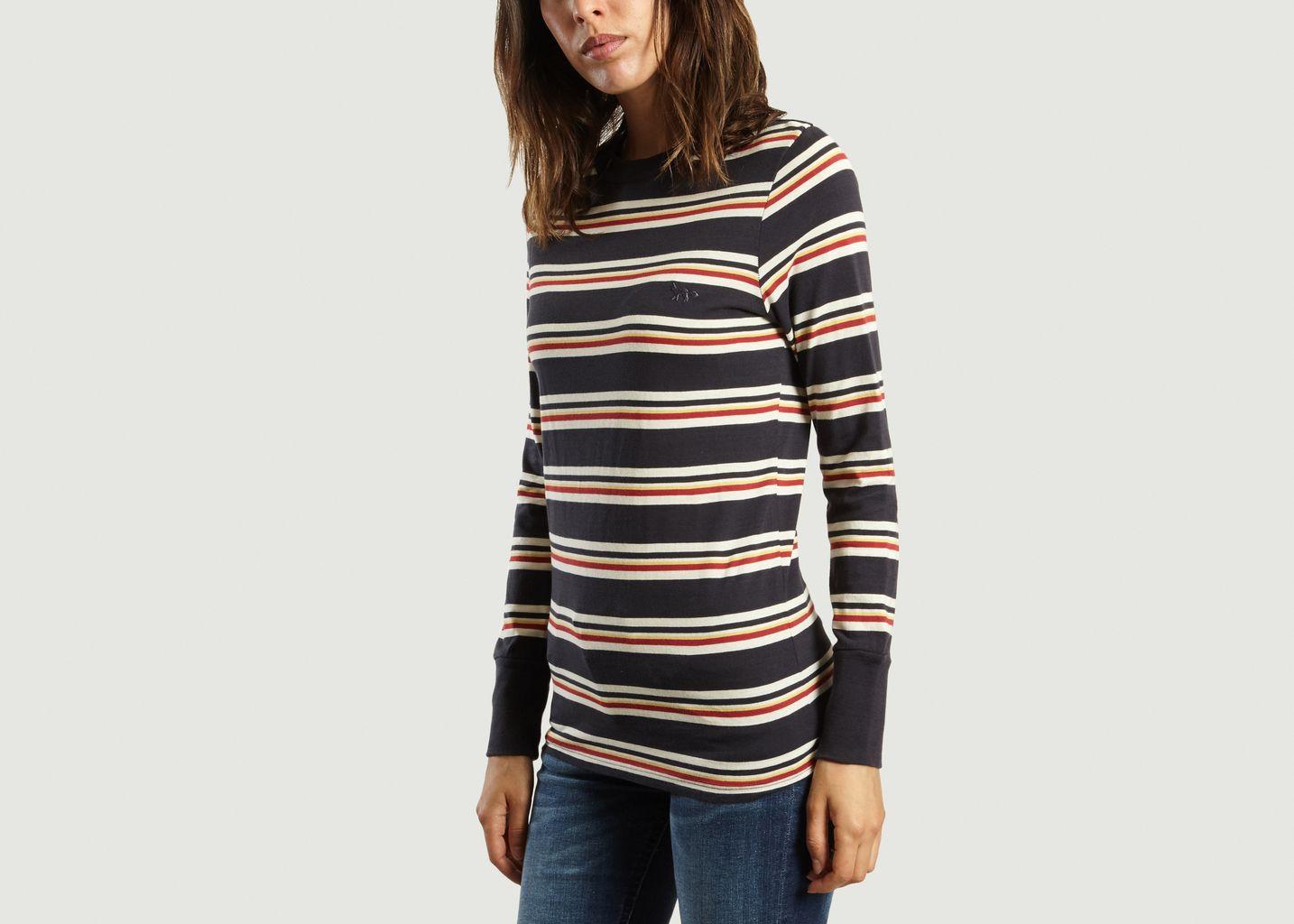 T-Shirt Manches Longues Rayé - Maison Kitsuné