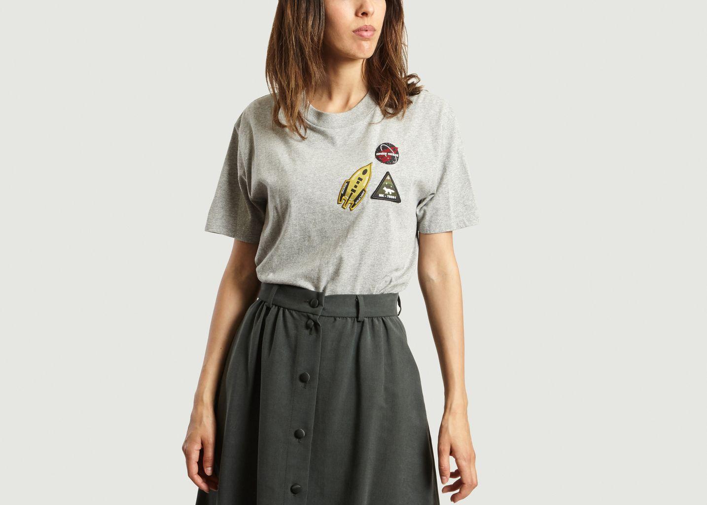 T-Shirt Astronaute Patchs - Maison Kitsuné