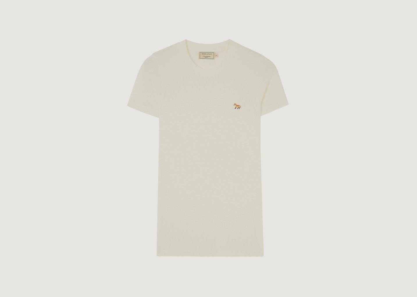 T-Shirt Profile Fox Patch - Maison Kitsuné