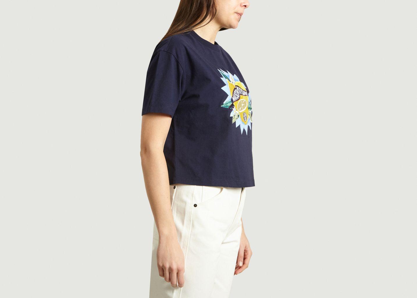 Tshirt Cropped Limone - Maison Kitsuné