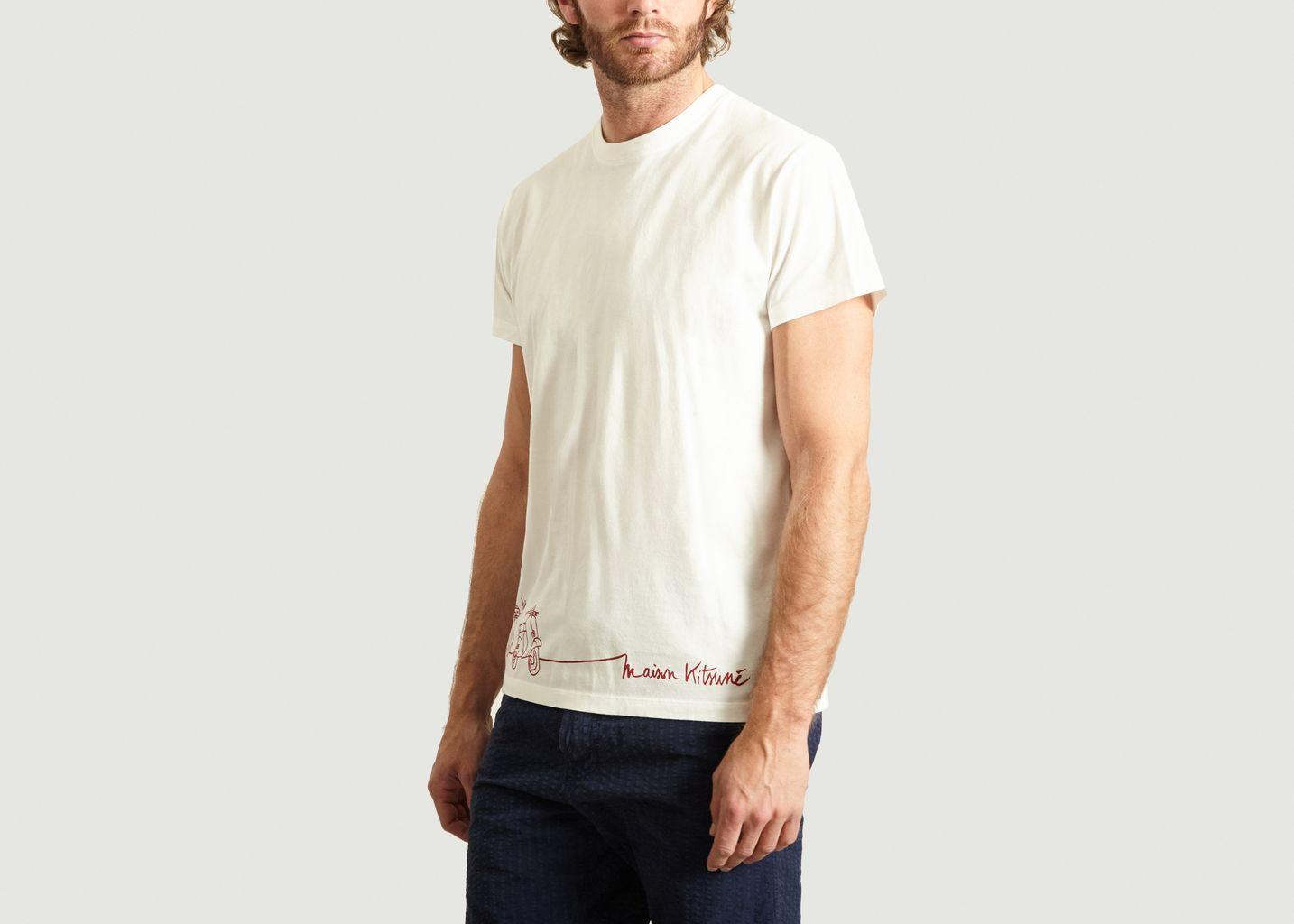 T-Shirt Scooter - Maison Kitsuné