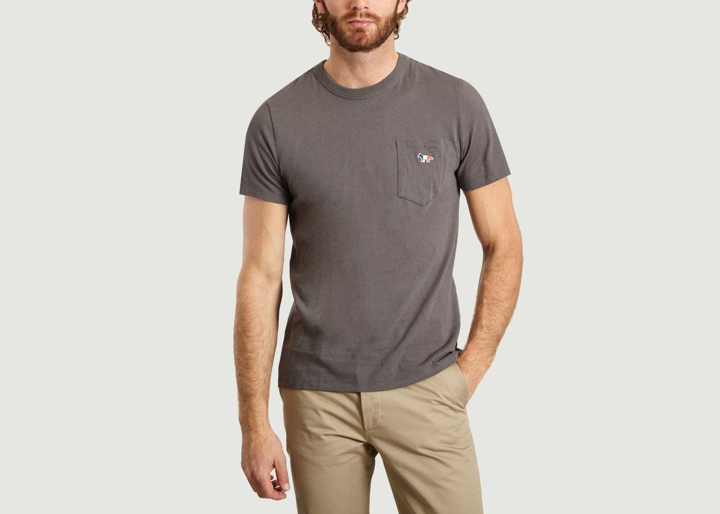 T-Shirt A Poche Siglée - Maison Kitsuné