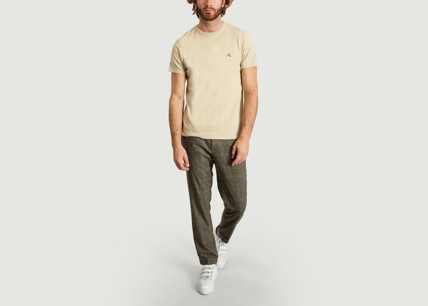 T-Shirt Uni Siglé - Maison Kitsuné