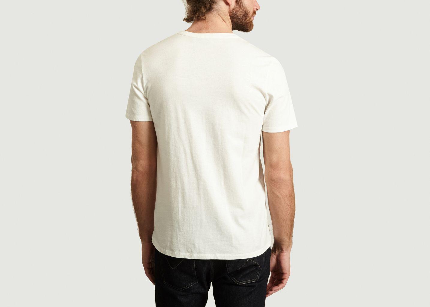 T-Shirt A Patch Renard Triangle - Maison Kitsuné