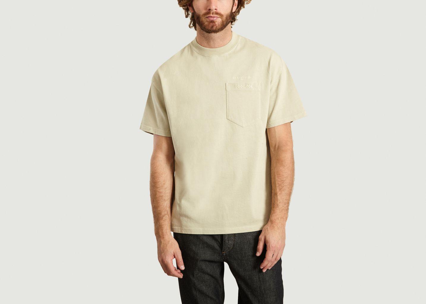 T-Shirt A Poche Avec Lettrage - Maison Kitsuné