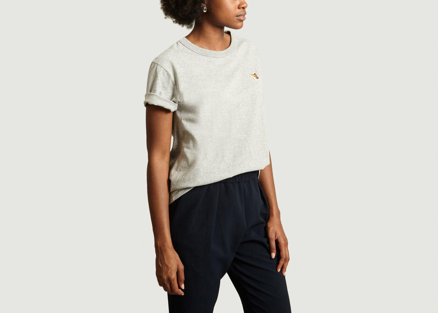 T-Shirt Chiné Siglé - Maison Kitsuné