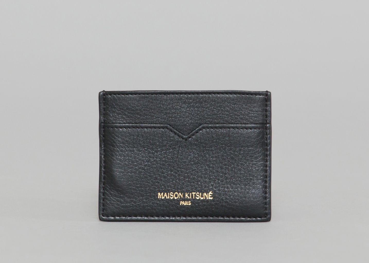 Porte-cartes en cuir italien structuré tI9rSK