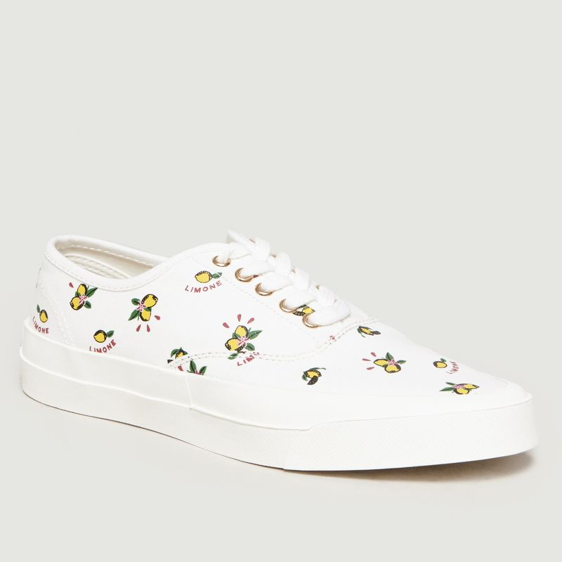 Sneakers Limone Imprimé All-Over - Maison Kitsuné