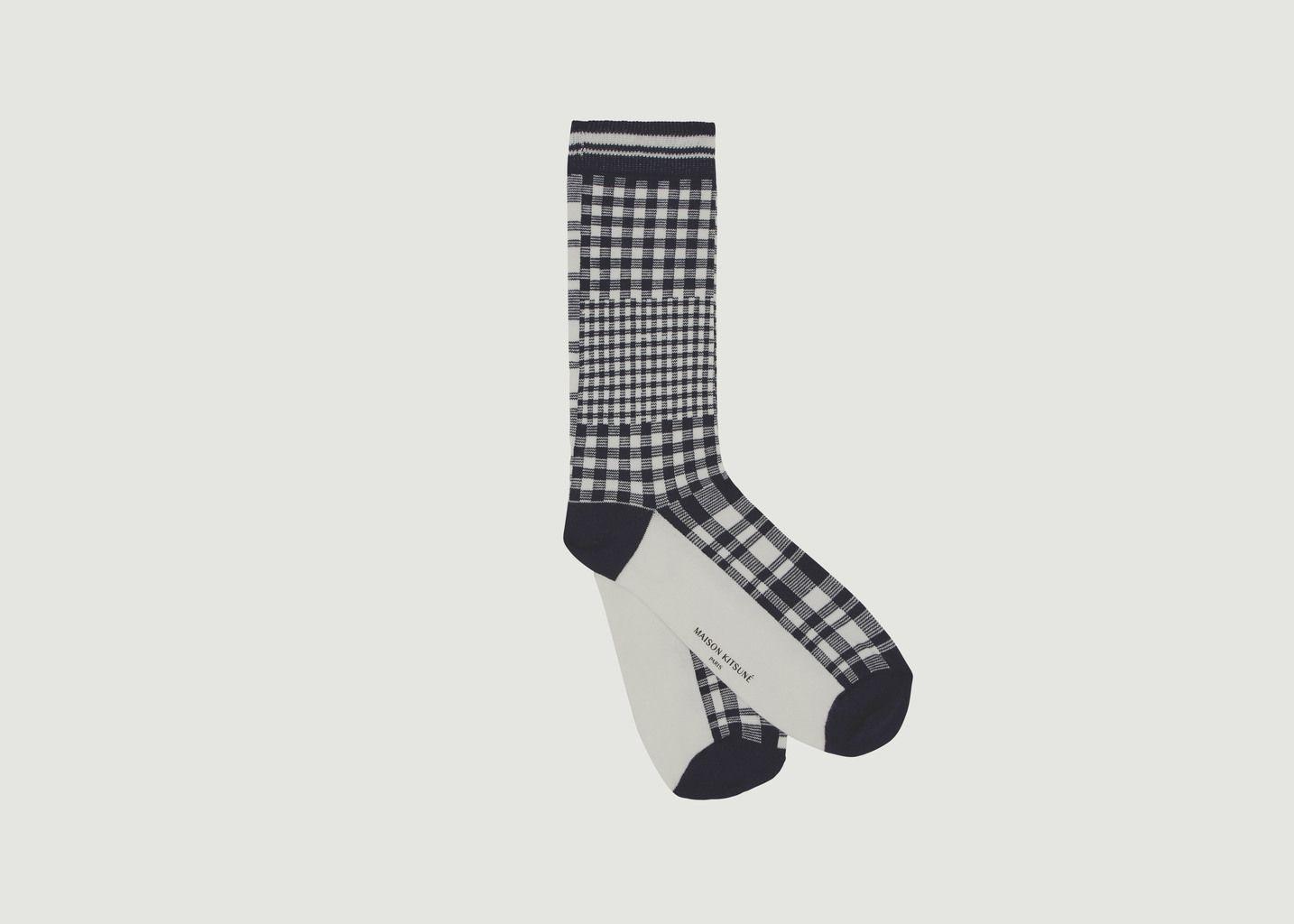 Chaussettes à Carreaux - Maison Kitsuné