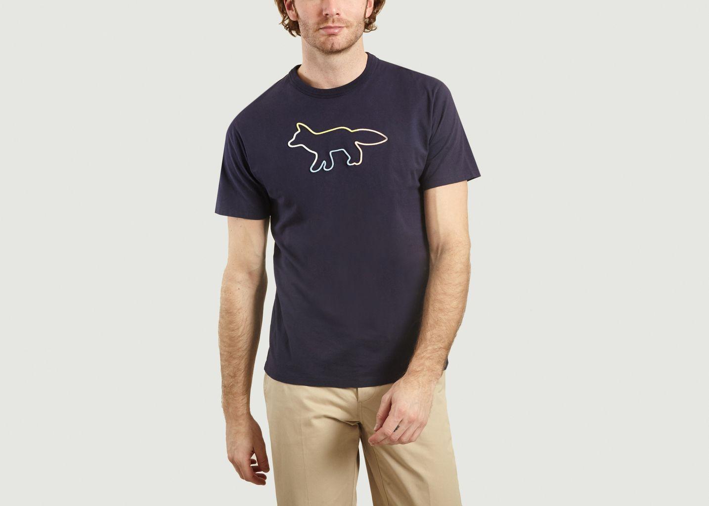 T-Shirt Renard Brodé - Maison Kitsuné
