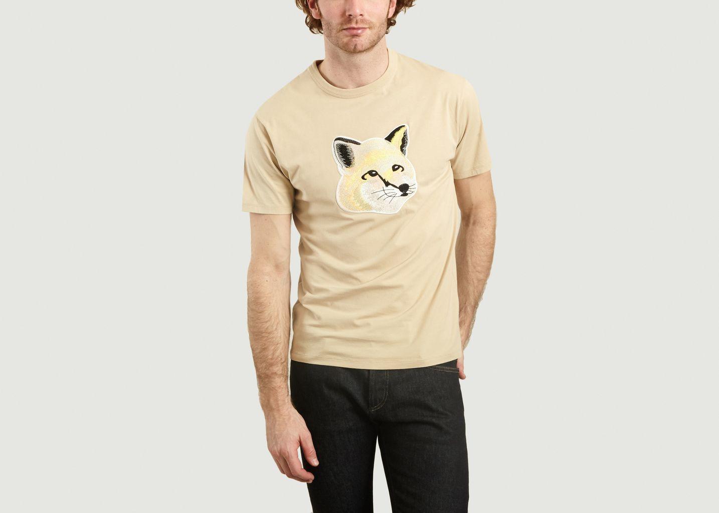 T-Shirt Brodé Renard - Maison Kitsuné