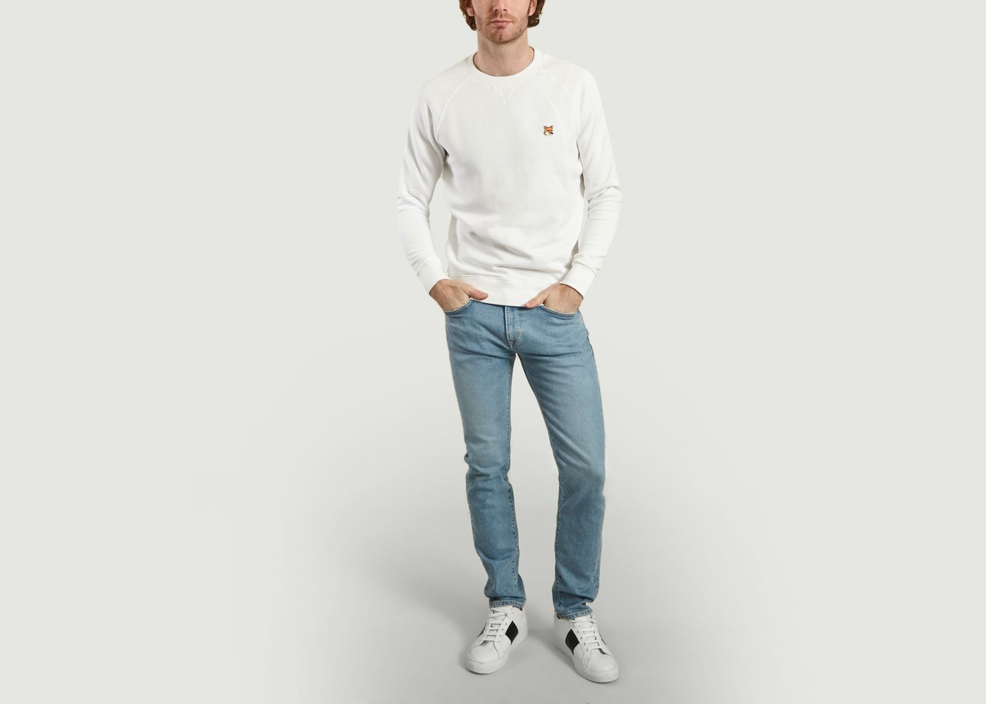 Sweatshirt Fox Head Patch - Maison Kitsuné