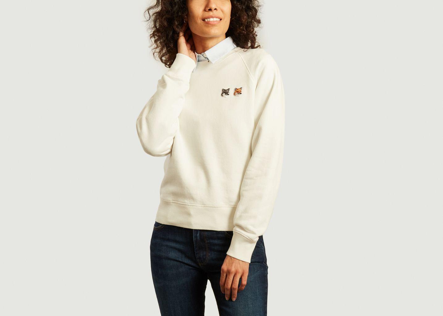 Sweatshirt logotypé double renard - Maison Kitsuné