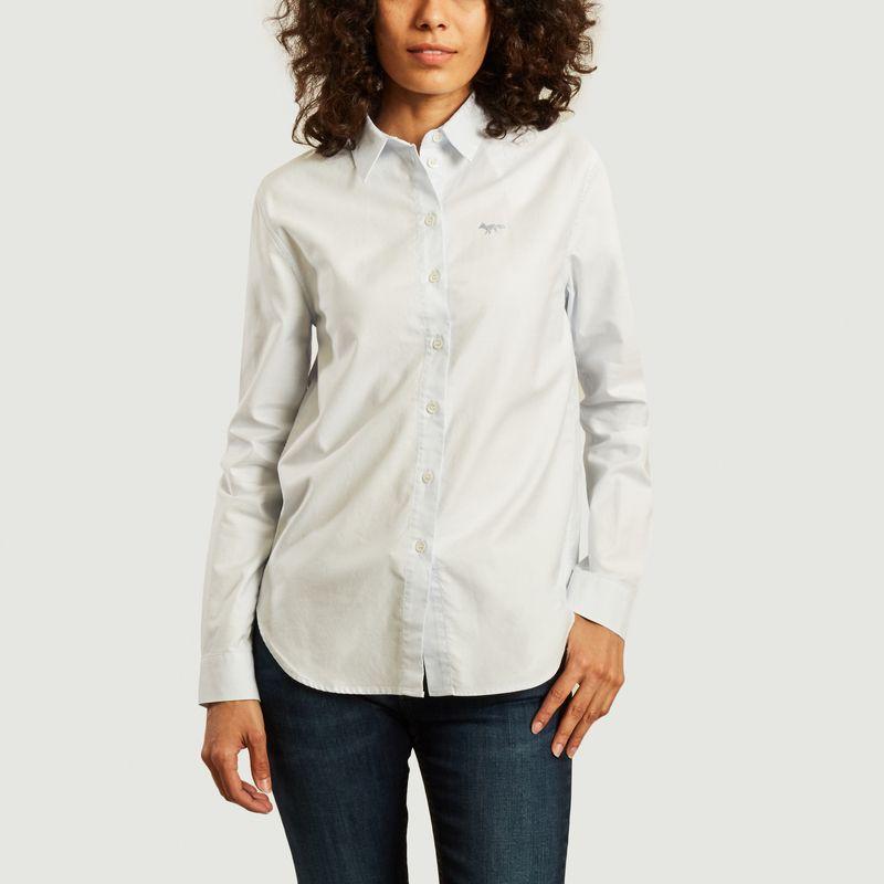 Cotton logo shirt - Maison Kitsuné