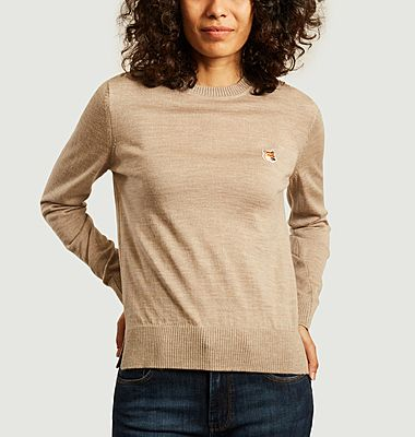 Fox merino wool sweater