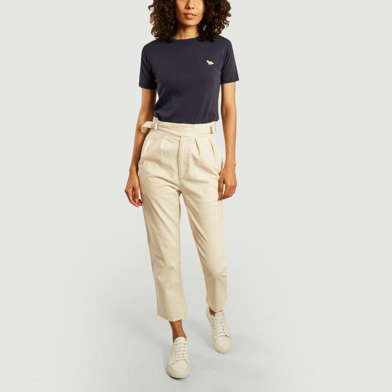 Pantalon en coton 7/8e Worker - Maison Kitsuné